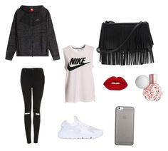 """"" by yasminael on Polyvore featuring mode, NIKE, Topshop, White House Black Market en Native Union"
