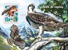 Post stamp Guinea-Bissau GB 14610 bBirds of prey (Falco vespertinus)