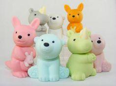 Adorable animal erasers