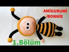 Amigurumi Bonnie 1 (Ayak ) (Gül Hanım) - YouTube Crochet Patterns Amigurumi, Crochet Toys, Knit Crochet, Best Karaoke Machine, Paper Bouquet, Knitting Videos, Drops Design, Baby Knitting, Lana