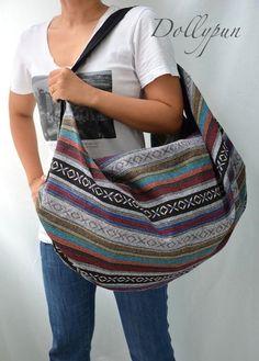 Nepali Hippie Shoulder Bag Gypsy Boho Hobo Backpack by Dollypun