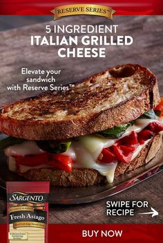 Italian Grill, Grilling Recipes, French Toast, Sandwiches, Cheese, Meals, Fresh, Meal Ideas, Breakfast