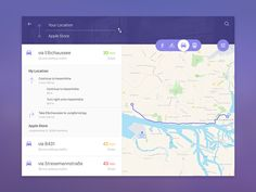 Exploring Maps UI/UX applying material design and fluid animations.