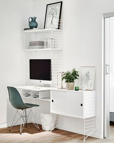 54 Super Ideas Home Office Design Inspiration Workspaces Chairs Home Office Space, Home Office Design, Home Office Furniture, Home Office Decor, Furniture Design, Home Decor, Apartment Office, Office Spaces, Apartment Living