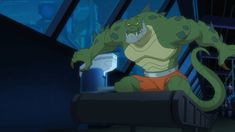 A shot of Killer Croc from Batman Unlimited Animal Instincts direct to video. Cartoon Crossovers, Cartoon Characters, Fictional Characters, How To Draw Anime Hair, Killer Croc, Batman Art, Looney Tunes, Warner Bros, Cartoon Network