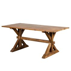 Teak Trestle Dining Table -  Recalling the gentle coziness of an English cottage, the Dodson Rectangular Dining Table seats up to six of your loved ones comfortably for...