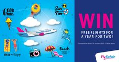 @FlySafair is giving us a chance to win* free flights for a year for two! Go enter now! #Free2Fly