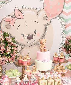 Teddy Bear Party, Teddy Bear Birthday, Teddy Bear Baby Shower, Baby Birthday, Baby Shower Decorations Neutral, Baby Girl Shower Themes, Baby Shower Princess, Baby Shower Gender Reveal, Unisex Baby Shower