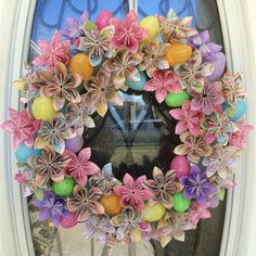 Easter Origami Wreath