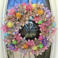 Easter Origami Wreath