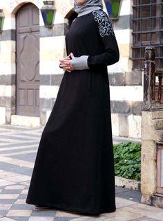 Amara Print Maxi Sweaterdress from www.shukrclothing.com #dress #hijab #Islam