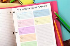 Printable Weekly Meal Planner 8.5x11 by ModernPinkPrintables