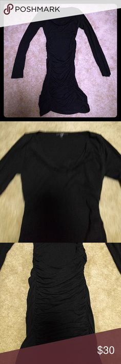 Tart LBD Super sexy and form fitting LBD. Worn maybe twice. Long sleeved which is great for the winter. Has a bit of a cowl neck. Tart Dresses Long Sleeve