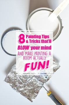 Painting a room can be such a chore. Here are 8 Painting Tips and Tricks that will blow your mind and make painting a room so much easier and enjoyable! Painting Tips Painting Tips, House Painting, Painting Walls, Spray Painting, Home Renovation, Home Remodeling, Dyi, How To Make Paint, Paint Stain