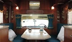 """Credit: Tina Hillier BMC Princess interior """"The camper was finished to exacting standards with materials like wal. Car Camper, Camper Van, Classic Car Show, Campervan Interior, Truck Camping, Yacht Design, I Cool, Interior Inspiration, Interior Ideas"""