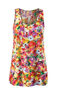 Discover cabi's Luisa Tank, a sporty racerback style tank with mix of floral colors for spring.