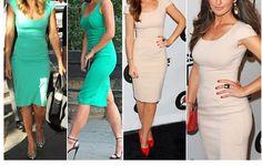 Stylish Cap Sleeves Scoop Collar Solid Color Back Split Hem Slim Dress for Women