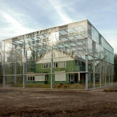 The former home of an SS commander at Nazi concentration camp Westerbork, the Netherlands, has been enclosed within a giant glass vitrine by Dutch studio Oving Architecten Landscape Architecture, Interior Architecture, Home Greenhouse, House In Nature, Timber House, Glass Boxes, Glass Roof, My House, Building A House