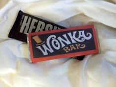 Free Wonka Bar Wrapper Template - fill with golden tickets for a fun bday invite or favor!