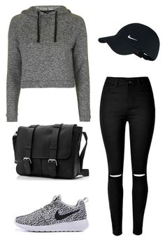 """""""Nikes!"""" by outfits-by-jahan on Polyvore featuring Topshop and NIKE"""