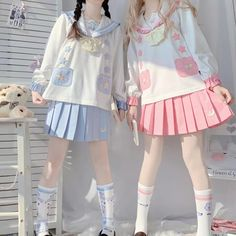 Cute Skirt Outfits, Cute Casual Outfits, Pretty Outfits, Pretty Dresses, Kawaii Fashion, Lolita Fashion, Cute Fashion, Mode Outfits, Girl Outfits