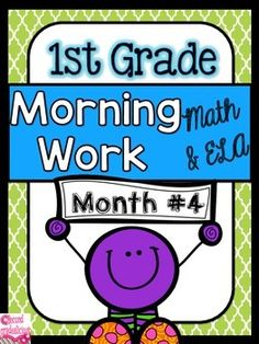 Morning WorkMorning Work with a word of the day featureMorning Work: First Grade Morning WorkThis is month #4 out of 10 months of morning work (months 5-10 are currently in the works). Morning work is perfect for when students come in the classroom and you are busy attending to notes from parents, student agendas, etc.