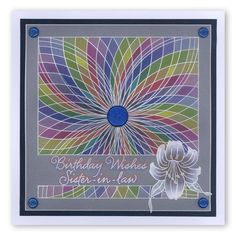 Nested Circle, Jaynes Trumpet Lily plate and Occasion border Groovi card created by Dee Paramour