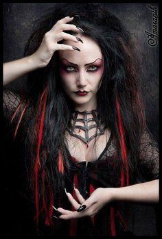 Dark horror #Goth girl