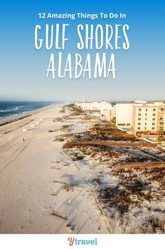 Planning to visit Gulf Shores? Here are 12 amazing things to do in Gulf Shores and Orange Beach Alabama, including tips on where to eat and drink, and where to stay. Don't visit Alabama on your beach vacation until you read this Gulf Shores travel guide! #GulfShores #Alabama #OrangeBeach #travel #vacation #beachvacation #familytravel