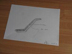 Die Ideen sind vielseitig. Hier die ersten Zeichnungen zum Bau einer neuen Pinne für die Nexo NC22.