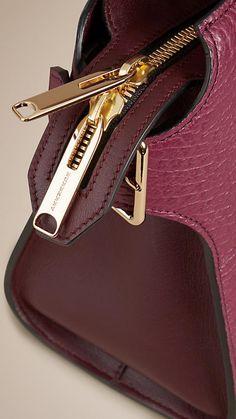 Dark plum/claret The Medium Clifton in Signature Grain Leather - Image 7