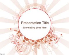 Sun Burst PowerPoint Template is a free abstract PowerPoint slide design that you can download as a template for PowerPoint presentations with a nice sunburst effect and abstract concepts