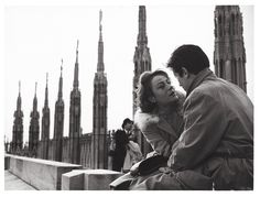(Milan) Annie Girardot and Alain Delon in Rocco e i suoi fratelli (1960) by Luchino Visconti