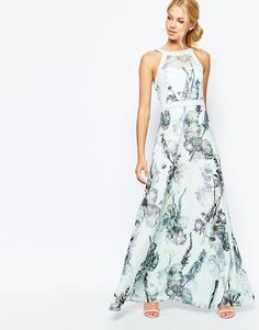 Image 1 ofTed Baker Marxel Torchlit Floral Maxi Dress
