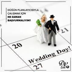 En doğrusu bir yıl önce gelmelisiniz. Çünkü Türkiye'de düğün planlama ortalama bir yıl önce başlar. Ama evlilik kararı aldınız ve bir ay içinde evleneceksiniz. Tabiki seve seve yardımcı olmak isteriz