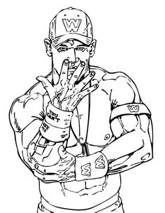 Free Coloring Page Of WWE Wrestling Online Printable Sports