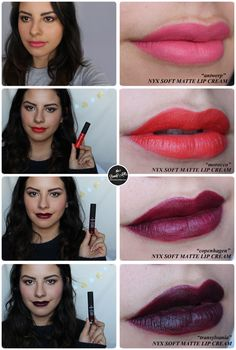 Review: NYX Soft Matte Lip Creams #swatches #nyx #lipstick