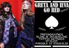 Our new fashion story is Greta and Ieva go red - RedMilk