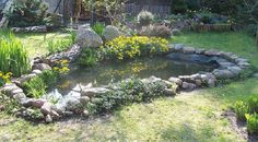 Small Garden Pond Make your landscape interesting with the use of a water feature