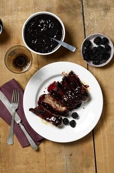 Sticky Blackberry Barbecued Pork Ribs  by Sarah Digregorio, wsj #Pork #Robs #Blackberry #Sarah_Digregorio #wsj