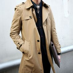 Don't get caught in the rain without this #dappertrenchcoat