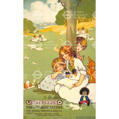 Underground for pleasure parties - Agnes Richardson (1912)