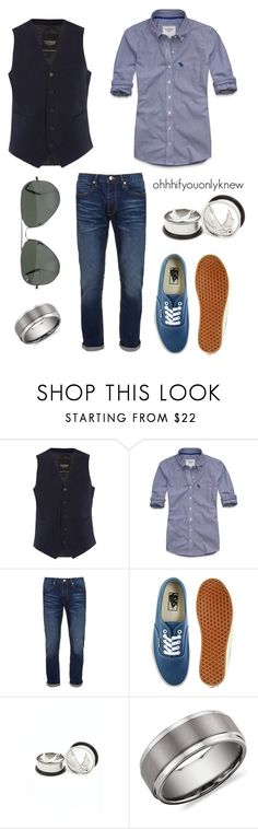"""Untitled #127"" by ohhhifyouonlyknew ❤ liked on Polyvore featuring Topman, Abercrombie & Fitch, Vans, Ray-Ban, Blue Nile, vans, my creations, awesome, ray bans and dress shirt"