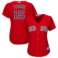 89e3ac6f999 Dustin Pedroia Boston Red Sox Majestic Women s Plus Size Alternate Cool  Base Player Jersey - Red