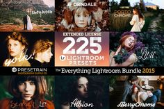 225 Lightroom Presets Bundle 2015 by Presetrain Co. on Creative Market