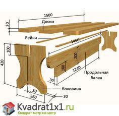 садовая скамейка (лавочка) из дерева для дачи своими руками , чертежи + фото