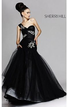One Shoulder Ruched Tulle Ball Gown SH-2820