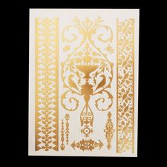 Temporary Tattoos Hot Sale Beauty Gem Gold Blue Metallic Flash Tattoo Stickers Jewelry Paste Fake Henna Water Transfer Tattoo Removable Snake Print Tatoos A Great Variety Of Goods Tattoo & Body Art