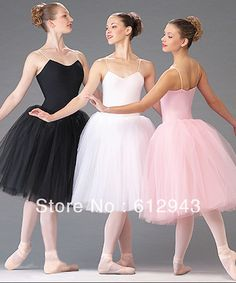 Edge yarn dance Ballet long tulle dress performance wear costume tutu skirt  with four layers JQ-113 on AliExpress.com. $37.40