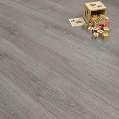 Grey Oak 11mm Style Laminate Flooring, only £10.99 per m2!